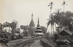 A pagoda at Toungoo, with brick causeway approaches